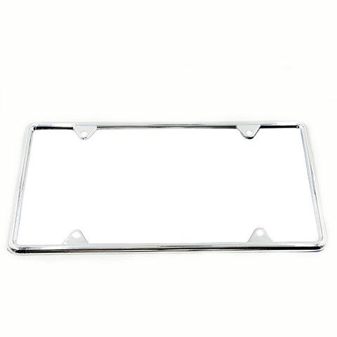 1x Silver Stainless Steel License Plate Frame Metal Frame Holder ...