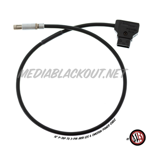 "18"" P-Tap to 3-pin Arri LCS & Cmotion Power Cable [Stocked]"