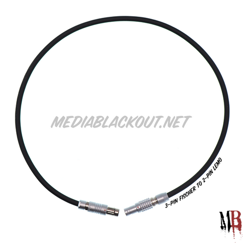 "18"" 3-pin Arri RS to 2-pin Lemo Cable [Stocked]"