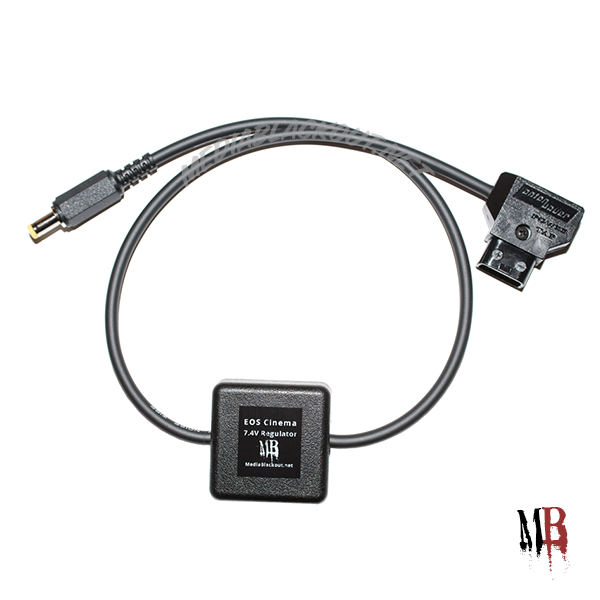 Canon Cinema EOS 7.4V Regulated Power Cable