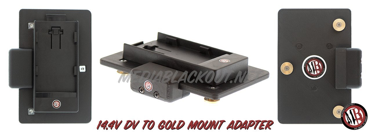 14.4V DV to Gold Mount Battery Adapter