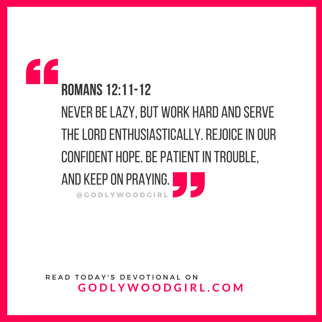 Today's Daily Devotional for Women - Work Hard & Rejoice