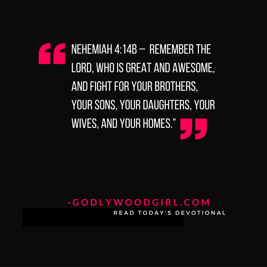 Today's Daily Devotional - You are created to fight for what's yours
