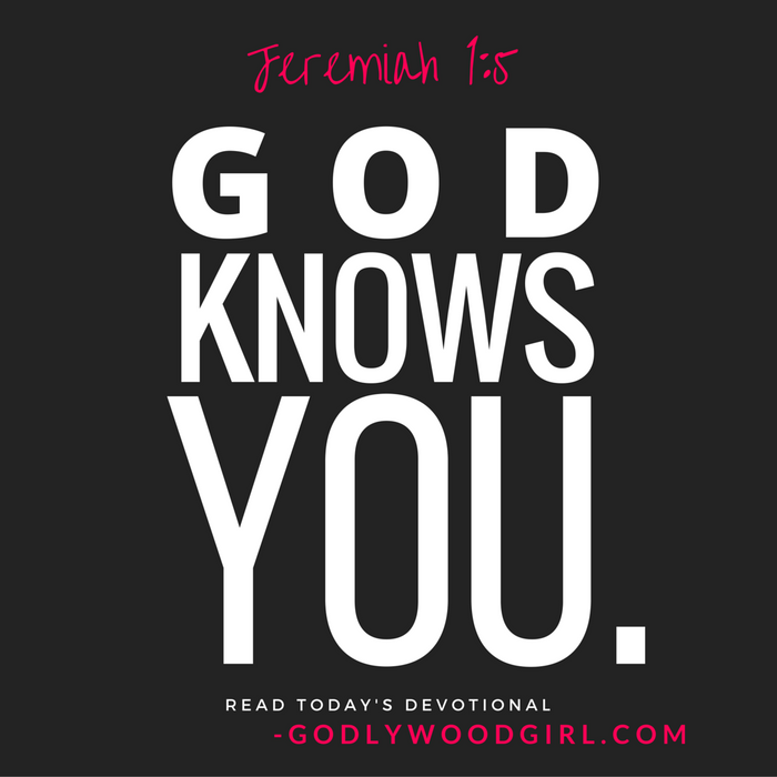 Today's Daily Devotional for Women - God Knows You.