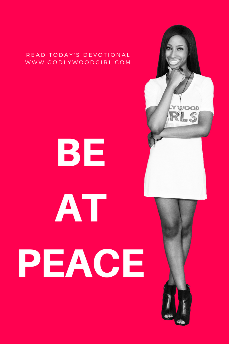 Today's Daily Devotional for Women - Be At Peace