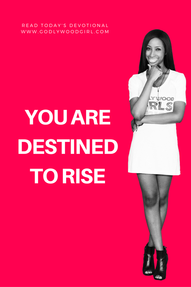 Today's Daily Devotional For Women - You are destined to RISE.