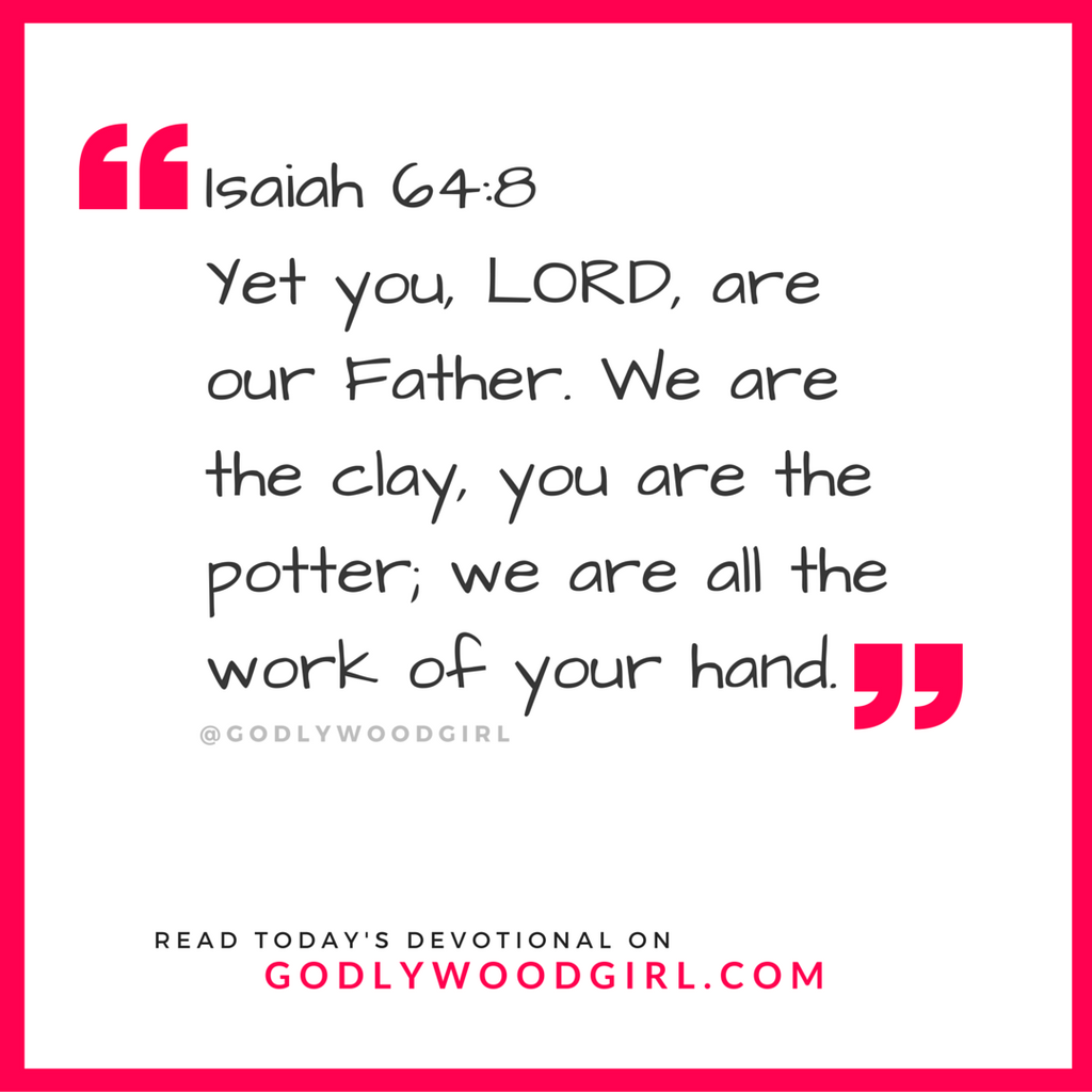 Today's Daily Devotional for Women - You are the work of God's hand.