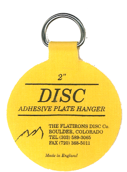 Flatirons Disc Adhesive Plate Hangers, set of four 2-inch hangers