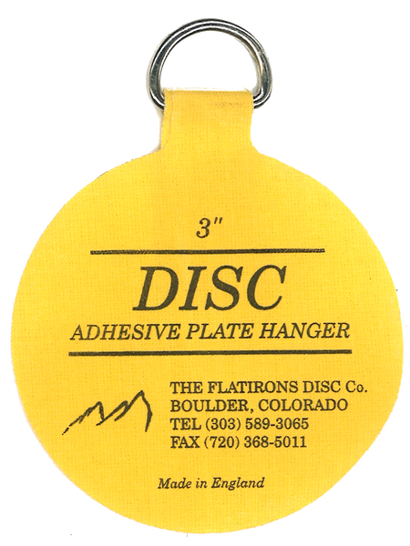 Flatirons Disc Adhesive Plate Hangers, set of four 3-inch hangers