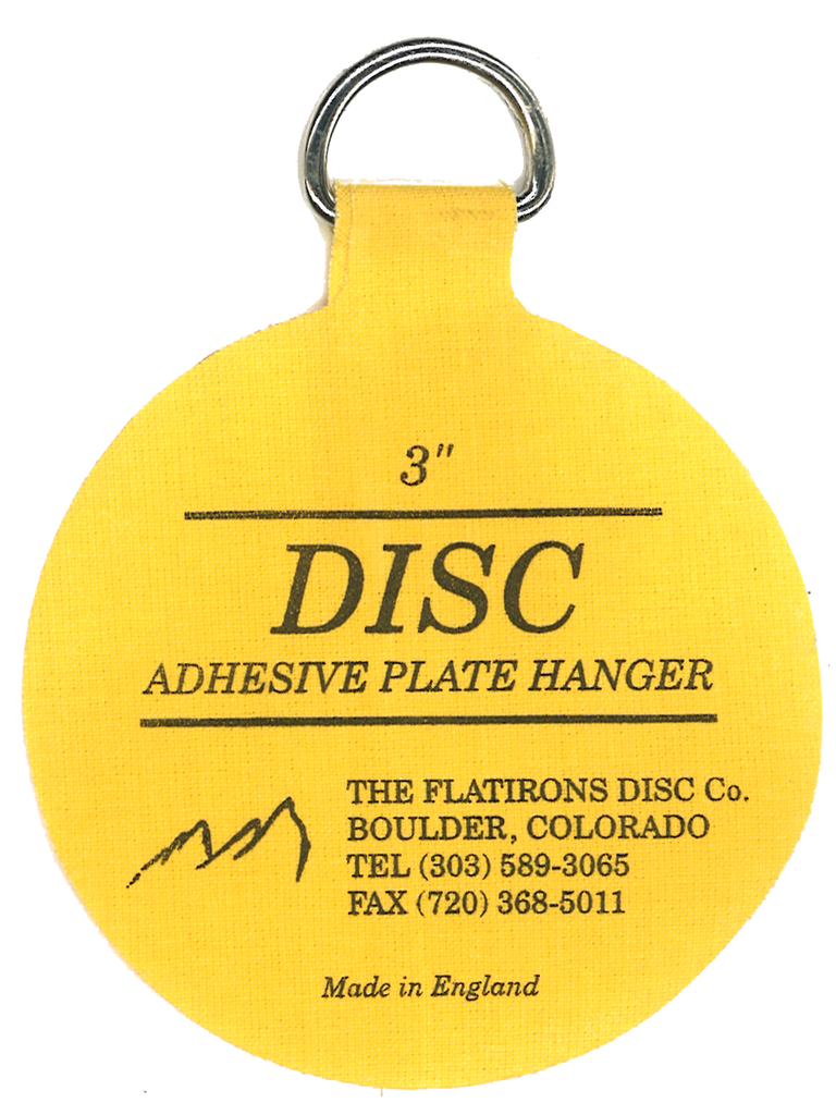 ... Flatirons Disc Adhesive Plate Hangers set of two 3-inch and two 4-  sc 1 st  HANG4LESS & Flatirons Disc Adhesive Plate Hangers set of two 3-inch and two 4 ...