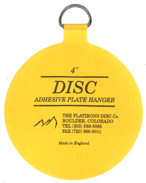 Flatirons Disc Adhesive Plate Hanger, 4-inch