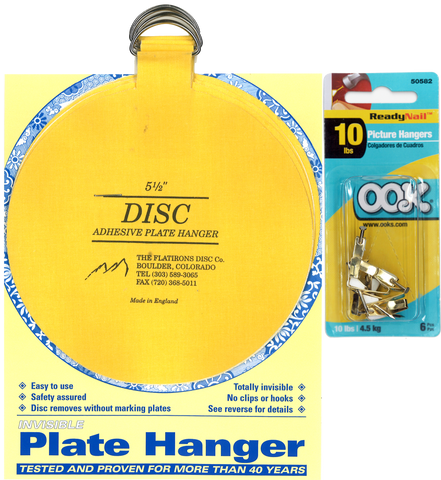 Four 5.5-inch Plate Hangers and Six OOK Readynail 10lbs. Picture Hooks