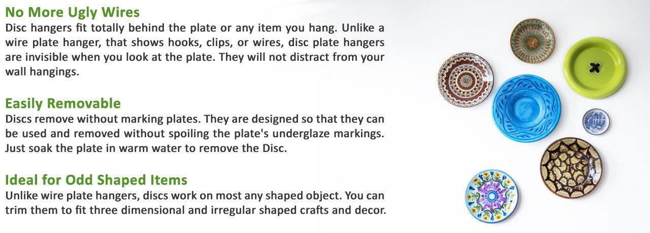 Plate Hangers - Original Invisible Adhesive Disc Hanger u2013 HANG4LESS. Plate Hangers Original Invisible Adhesive Disc Hanger HANG4LESS  sc 1 st  Best Image Engine & Charming Invisible Disc Plate Hanger Ideas - Best Image Engine ...
