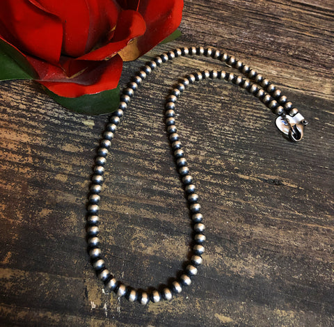 "18"" 6mm Navajo Pearls"