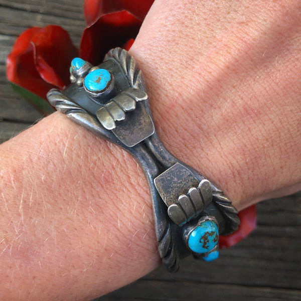 Vintage SP Turquoise Watch Cuff