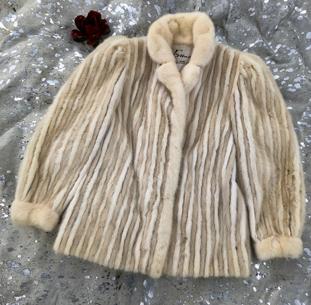 Vintage Blonde Mink Coat