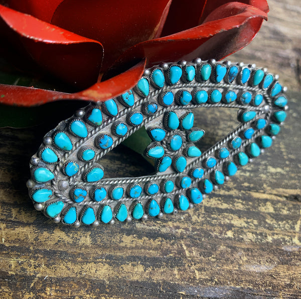 Vintage Zuni Turquoise Brooch