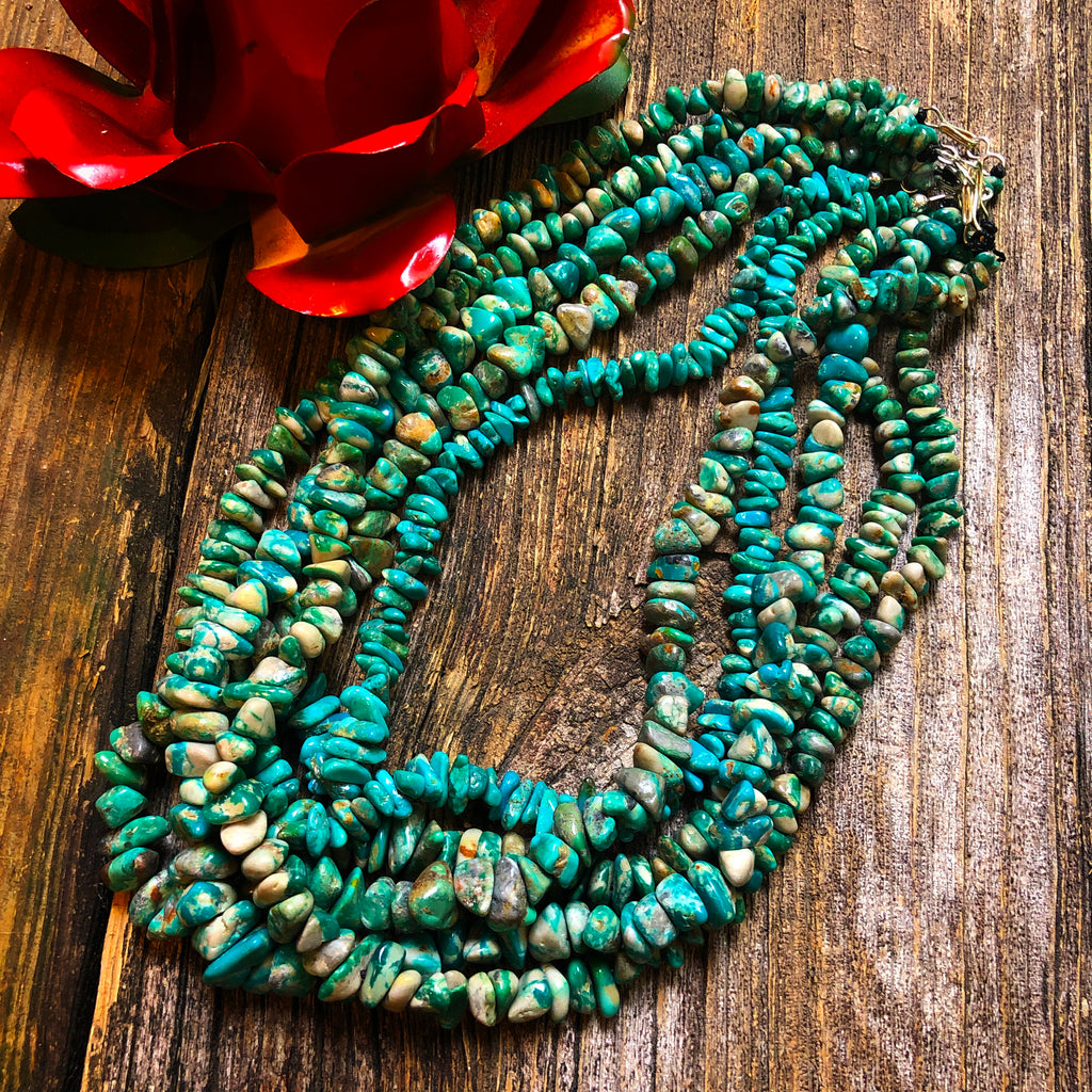 Turquoise Nugget Strand Necklace
