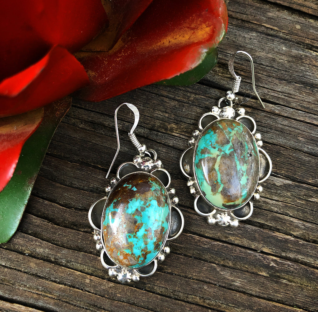 L Sterling Turquoise Earrings