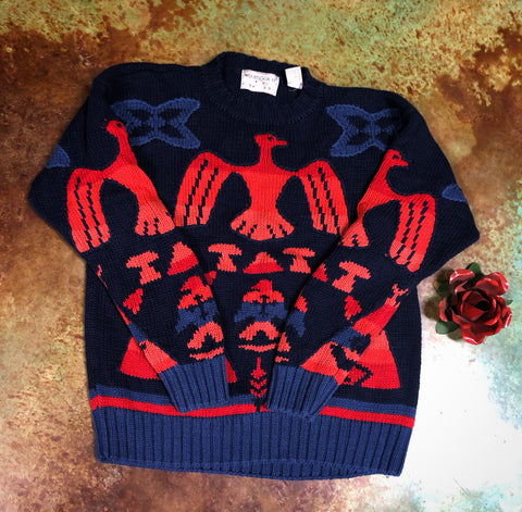 Vintage Cable Knit Thunderbird Sweater