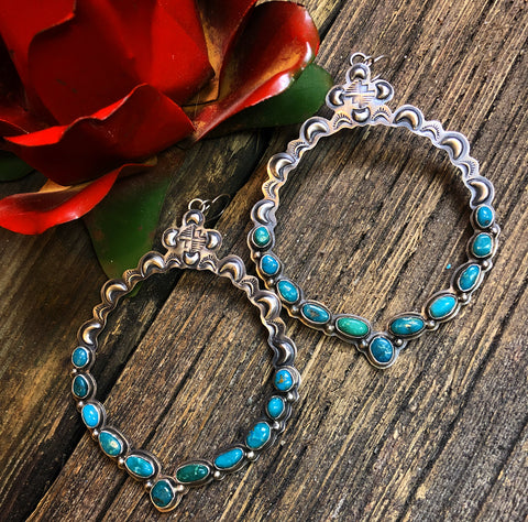 Annie Hoskie Turquoise Earrings