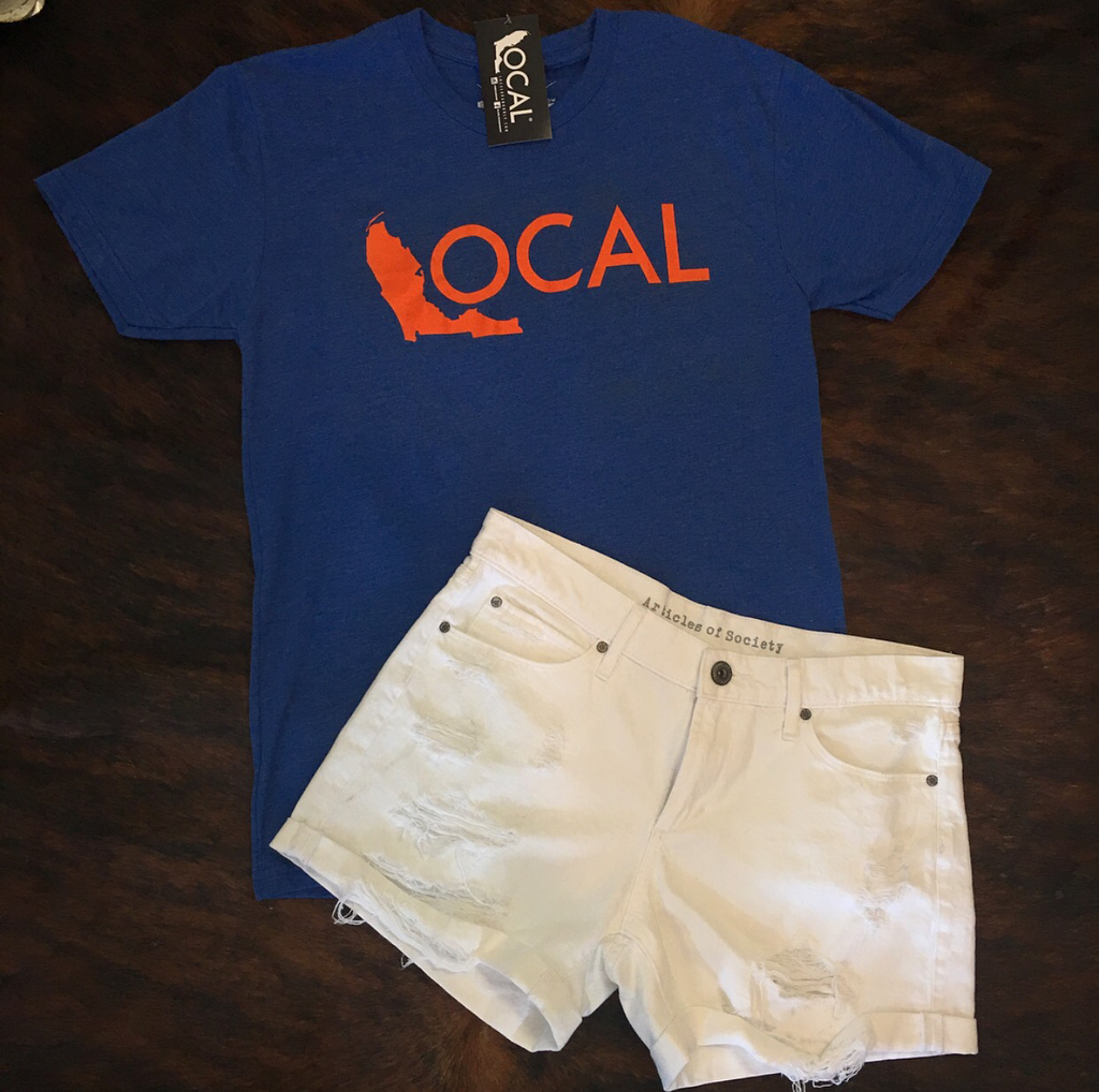Blue and Orange Local Tee
