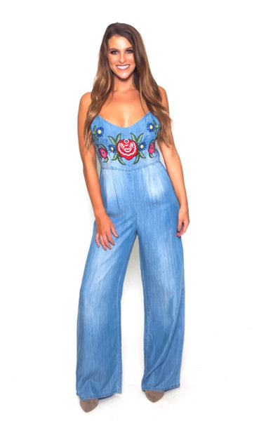 Judith March Floral Jumpsuit