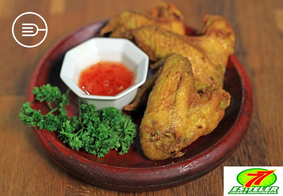 Fried Chicken Wings (3 pcs) (HALAL)