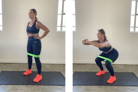 Squats with resistance band