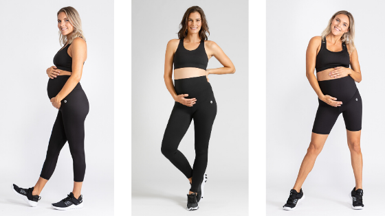 Pregnancy support leggings for workout exercise