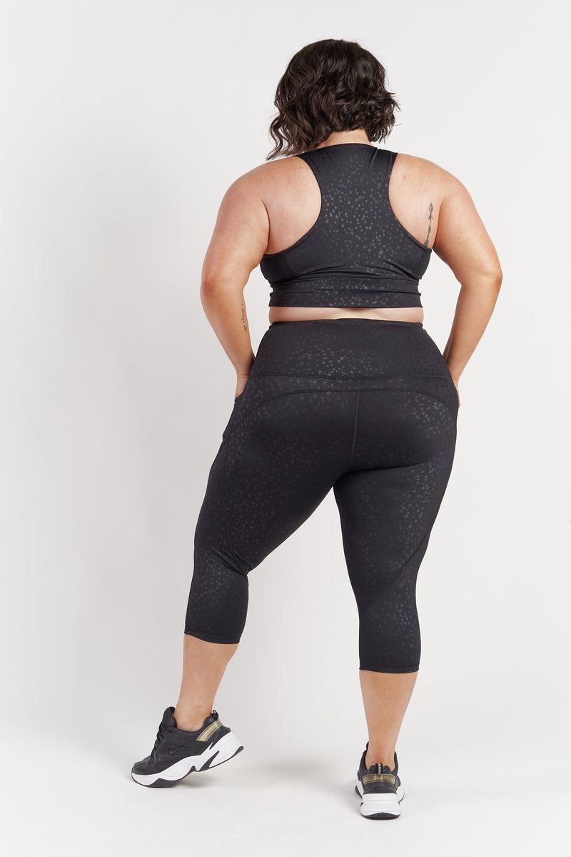 3-4-length-gym-tight-black-star-plussize-back