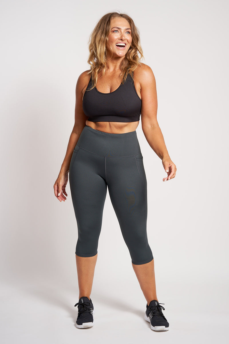 Training Pocket Cropped Tight - Palm Green