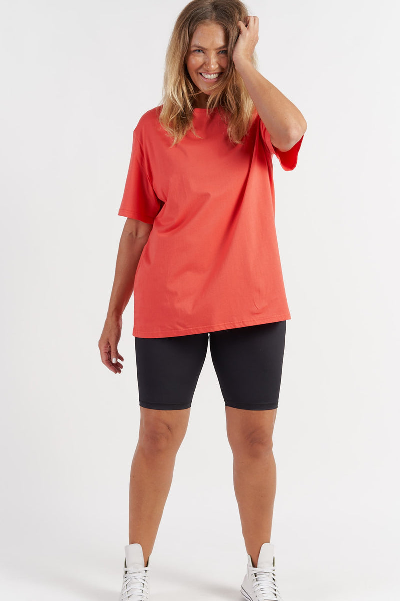 activewear-oversized-tee-red-large-front