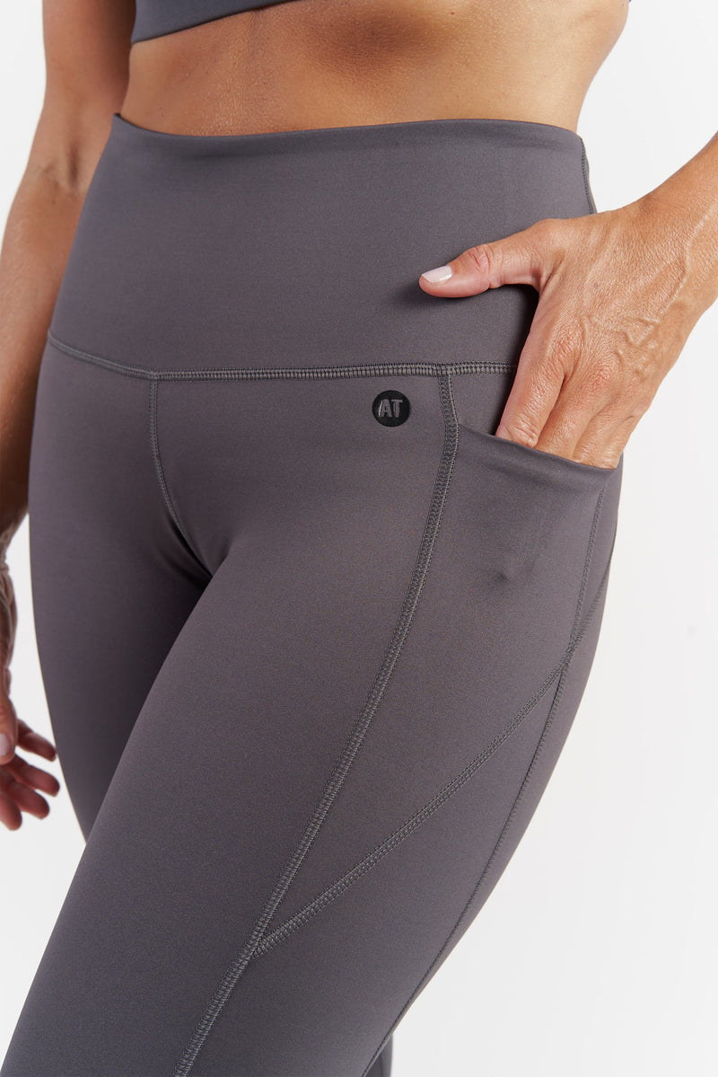 Training Pocket Full Length Tight - Grey from Active Truth™