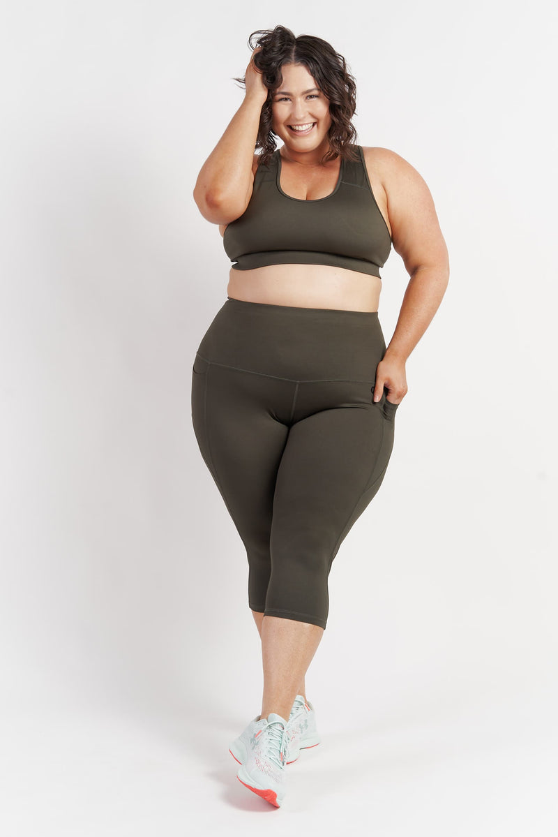 croppedlength-gym-tights-khaki-plussize-front
