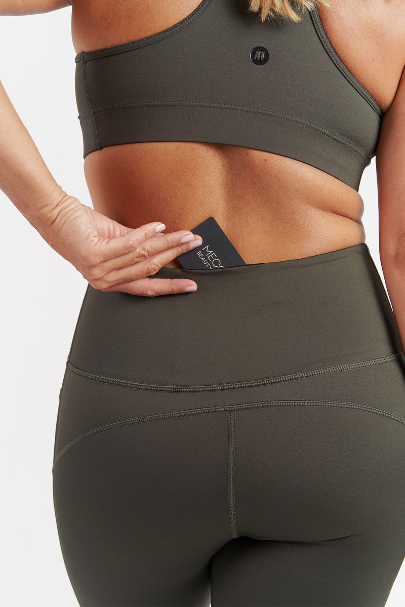 Training Pocket 3/4 Length Tight - Khaki from Active Truth™