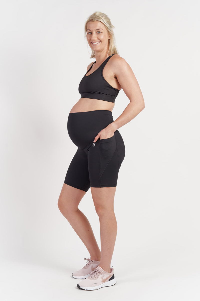 maternity-training-pocket-bike-short-black-tight-small-side