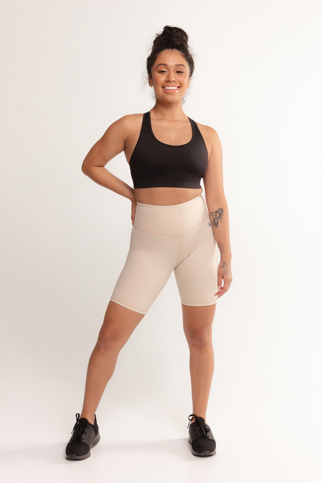 mid-thigh-under-uniform-compression-short-tight-beige-small-front