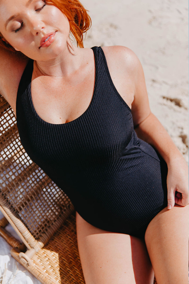 Noosa One Piece - Black Ribbed from Active Truth™