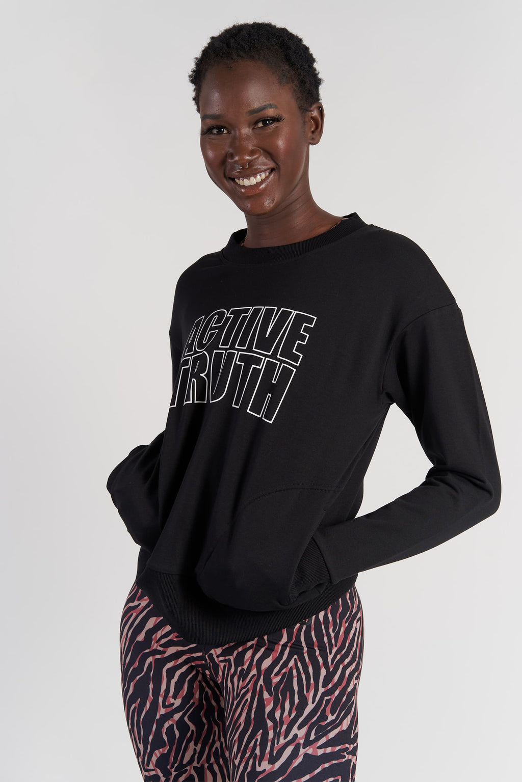 womens-activewear-jumper-gym-top-black-small-front