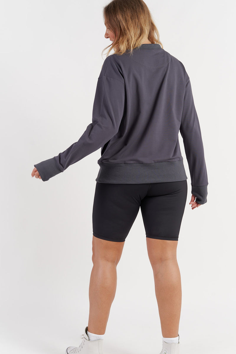 womens-activewear-jumper-gym-top-charcoal-large-back