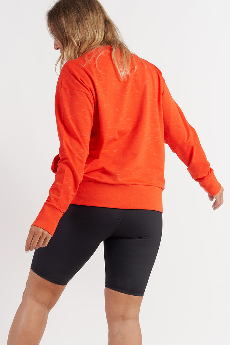 womens-activewear-jumper-gym-top-red-large-back