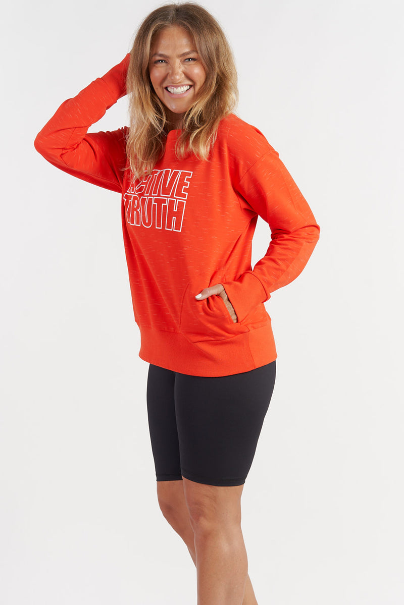 womens-activewear-jumper-gym-top-red-large-side