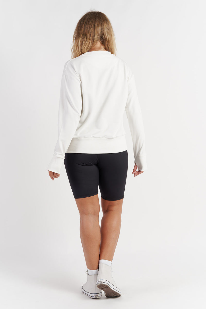 womens-activewear-jumper-gym-top-white-large-back