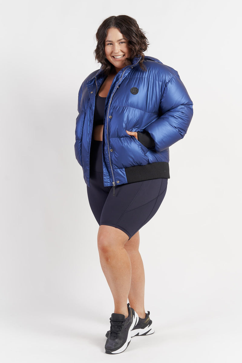 womens-activewear-puffer-jacket-electric-blue-plussize-side