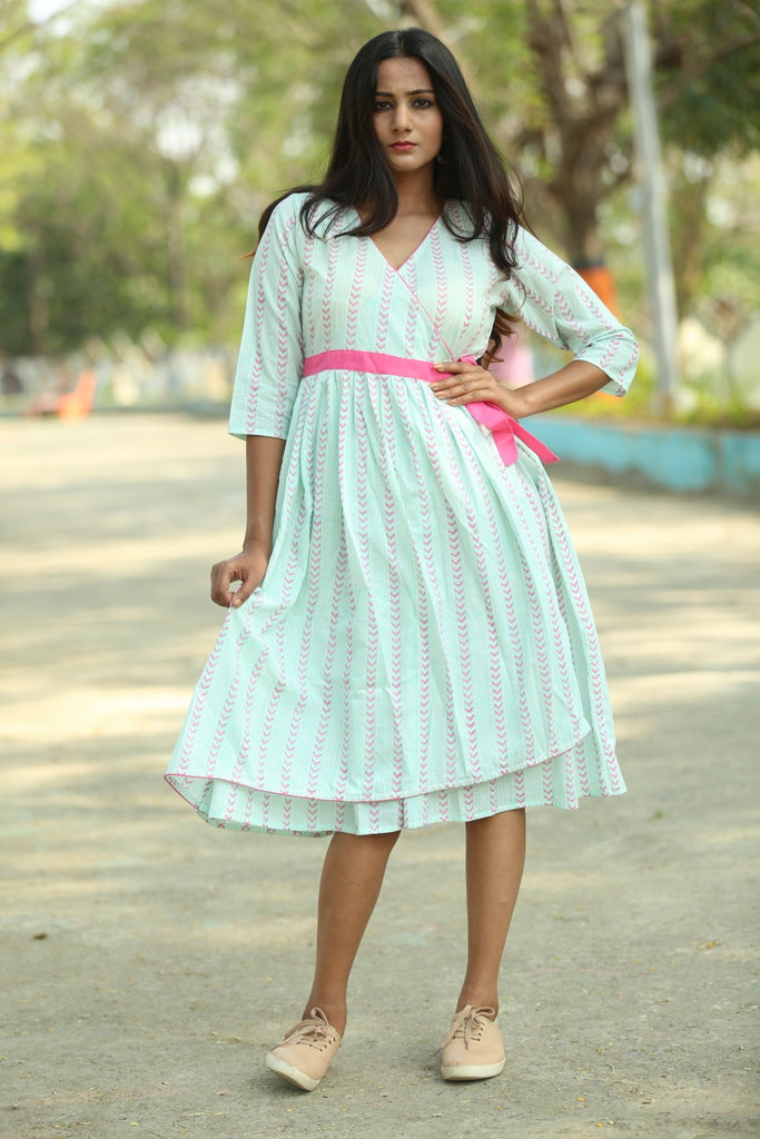 Cotton flare dress