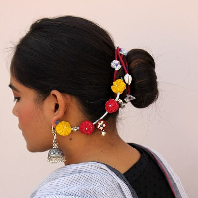 Handcrafted up-cycled textile ear-chains
