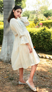 Flounce Sleeved Masakali Dress online at bebaakstudio.com