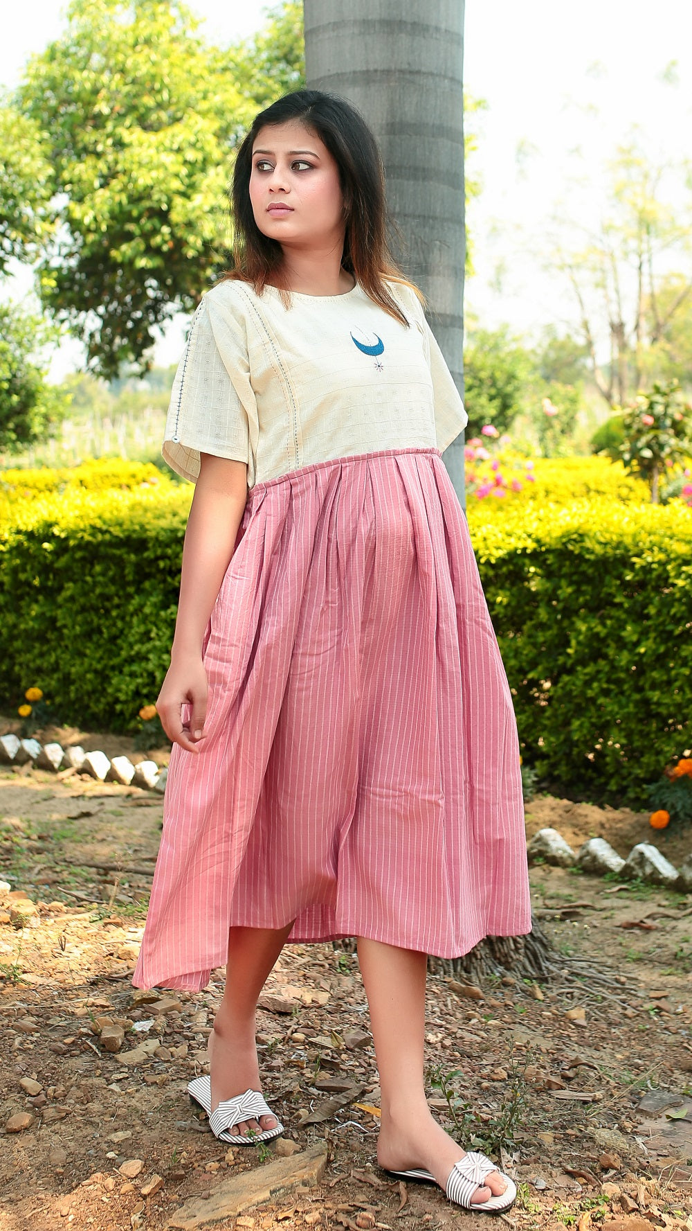 Moon Pink Masakali Dress online at bebaakstudio.com