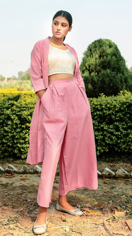 Pink Masakali Shrug Set: Set of 3